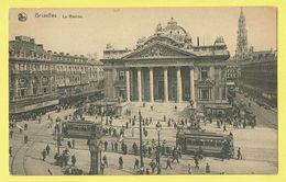 * Brussel - Bruxelles - Brussels * (Nels, Série 1, Nr 14) La Bourse, Stock Exchange, Beurs, Animée, Tram, Vicinal, TOP - Bruxelles-ville