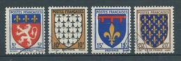 FRANCE 1943 . Série N°s 572 à 575 . Oblitérés. - Used Stamps