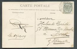 N°81 - 1 Centime ARMOIRIE Obl. Télégraphique De SIVRY (STATION) ** Sur C.P.  (SIVRY RUE DE SAUTIN) Vers Forest.  Oblitér - 1893-1907 Wappen