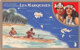 Océanie / 16 - Iles Marquises - Carte Illustrée - Postcards