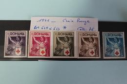 1941     -   649  à  653 *        AU  PROFIT  DE  LA  CROIX  ROUGE  COTE   :   7,00€ - 1918-1948 Ferdinand, Charles II & Michael