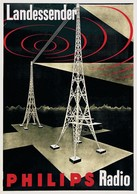 Product Postcard Radio Philips 1931 - Reproduction - Advertising