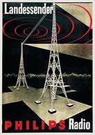 Product Postcard Radio Philips 1931 - Reproduction - Pubblicitari
