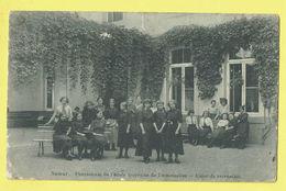 * Namur - Namen (La Wallonie) * Pensionnat De L'école Moyenne De Demoiselles, Cour De Récréation, Classe, School, TOP - Namur