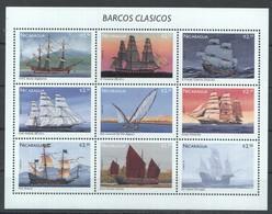D465 NICARAGUA SHIPS BARCOS GRASICOS 1KB MNH - Boten