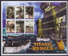 D466 1998 MADAGASIKARA SHIPS ART TITANIC RESGUE 1KB  MNH - Boten