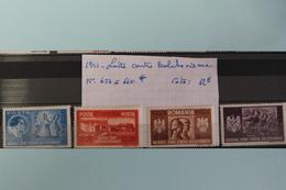 1941     -   657  à  660 *        LUTTE  CONTRE  LE  BOLCHEVISME    COTE   :  12,00€ - 1918-1948 Ferdinand, Charles II & Michael