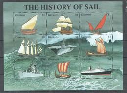 D472 GRENADA SHIPS THE HISTORY OF SAIL 1KB MNH - Boten