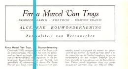 Pub Reclame Org. Knipsel Tijdschrift - Firma Marcel Van Troys - Kortrijk 1960 - Publicités