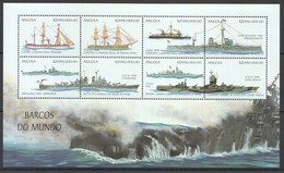 D475 ANGOLA SHIPS & BOATS BARCOS DO MUNDO 1KB MNH - Boten
