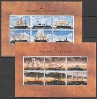 D476 ANGOLA TRANSPORTATION SHIPS & BOATS NAVIOS CLASSICOS 2KB MNH - Boten