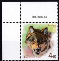 2004, EESTI, 479, Einheimische Fauna: Wolf. MNH ** - Estland