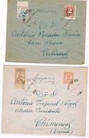 España. Dos Carta Circuladas Por Correo Impresos Ambas Y Con Sellos Locales - 1931-Hoy: 2ª República - ... Juan Carlos I