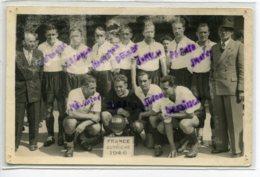 SPORT FOOTBAL Interessante CARTE PHOTO Match FRance Autriche 1946 Avec Noms Des Joueurs Autichiens     /DS 2014 - Fútbol