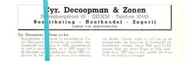 Pub Reclame Org. Knipsel Tijdschrift - Houthandel Cyr. Decoopman & Zonen - Izegem -  Ca 1960 - Publicités
