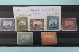 1941     -   678  à  685**       INTEGRATION  DE    LA   BUCOVINE     COTE   :  12,00€ - 1918-1948 Ferdinand, Charles II & Michael