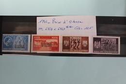 1942     -   695A  à  695D**       PRISE  D  '  ODESSA    COTE   :  12,00€ - 1918-1948 Ferdinand, Charles II & Michael