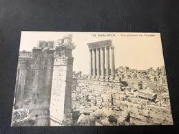 128 - BAALBECK Vue Generale Des Temples - Liban