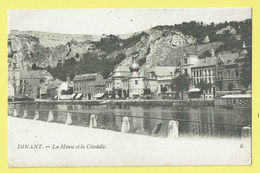* Dinant (Namur - Namen - La Wallonie) * (Th. Van Den Heuvel, Nr 8) La Meuse Et La Citadelle, Canal, Quai, Bassin - Dinant