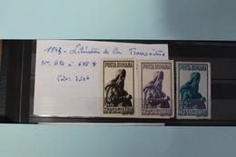 1943     -   696  à  698*       ANNIVERSAIRE  LIBERATION  DE  LA  TRANSNITRIE   COTE   :  7,50€ - 1918-1948 Ferdinand, Charles II & Michael