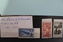 1943     -   704  à  704*       ANNIVERSAIRE  LIBERATION  DE  LA  BESSARABIE   COTE   :  7,50€ - 1918-1948 Ferdinand, Charles II & Michael