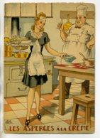 JEAN PARIS 003 Nos PLats Régionaux - Les Asperges à La Creme Jolie Serveuse Et Chef   - BARRE DAYEZ 1946 -1419 W - Illustratoren & Fotografen