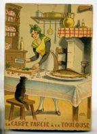 JEAN PARIS 005 -Nos PLats Régionaux - La Carpe Farcié à La Toulouse   Chat Noir   - BARRE DAYEZ 1946 -1417 .K - Illustratoren & Fotografen