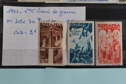 1943     -   709  à  711*       DEUXIEME  ANNEE  DE  RENTRE  EN  GUERRE   COTE   :  9,00€ - 1918-1948 Ferdinand, Charles II & Michael