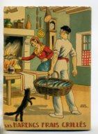 JEAN PARIS 007 -Nos PLats Régionaux - Les Harengs Frais Grillés Chat Noir  - BARRE DAYEZ 1946 -1417 A - Illustratoren & Fotografen
