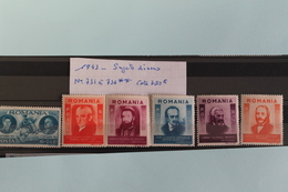 1943     -   732   à   736   **       HOMMES  CELEBRES           COTE   :  5,00€ - 1918-1948 Ferdinand, Charles II & Michael