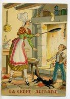 JEAN PARIS 015 -Nos PLats Régionaux -  La Crepe Agenais   Chat Noir - BARRE DAYEZ 1946 -1420  B - Illustratoren & Fotografen