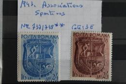 1943     -   737  à   738   **       ASSOCIATIONS  SPORTIVES           COTE   :  3,00€ - 1918-1948 Ferdinand, Charles II & Michael