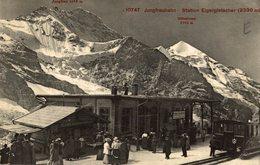 CLICHE RARE  Switzerland - MONCH - Jungfraubahn - Station Eigergietscher Mit Mochn - ZH Zurich