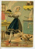 JEAN PARIS 020 -Nos PLats Régionaux -  Le Boudin Grillé  -   Volé Par Le Chien    - BARRE DAYEZ 1946 -1418  X - Illustratoren & Fotografen