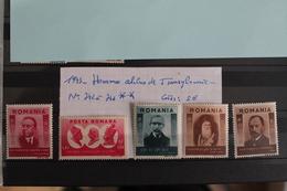 1943     -   742  à   746   **       HOMMES  CELEBRES  DE  TRANSYLVANIE           COTE   :  5,00€ - 1918-1948 Ferdinand, Charles II & Michael