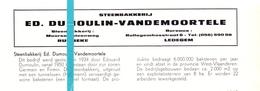 Pub Reclame Org. Knipsel Tijdschrift - Steenbakkerij Ed. Dumoulin - Vandemoortele - Rumbeke - Ledegem -  Ca 1960 - Publicités