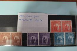 1943     -   747  à   750   **       PRINCE   DUCA           COTE   :  6,00€ - 1918-1948 Ferdinand, Charles II & Michael
