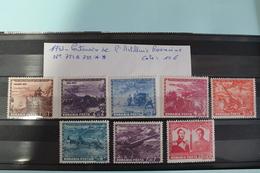 1943     -   751  à   758   **      CENTENAIRE  ARTILLERIE  ROUMAINE                 COTE   :  10,00€ - 1918-1948 Ferdinand, Charles II & Michael