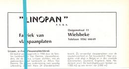 Pub Reclame Org. Knipsel Tijdschrift - Spaanplaten Linoplan - Wielsbeke  -  Ca 1960 - Publicités