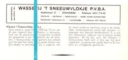 Pub Reclame Org. Knipsel Tijdschrift - Wasserij 't Sneeuwvlokje - Zonnebeke  -  Ca 1960 - Publicités