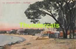 CPA JUAN LES PINS LA PLAGE - Juan-les-Pins