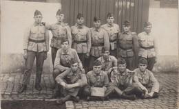 Carte Photo Réelle - Groupe De Militaires -  1929 - N° 14 Sur Le Calot - Army & War