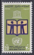 Ägypten Egypt 1972 Organisationen UNO ONU UNESCO Bücher Books Lesen Reading Bildung Education, Mi. 1078 ** - Ägypten