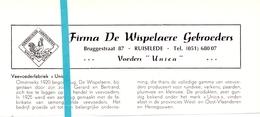 Pub Reclame Org. Knipsel Tijdschrift - Veevoeders Unica - Firma De Wispelaere Gebrs - Ruiselede -  Ca 1960 - Publicités