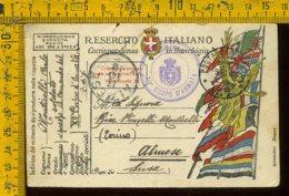 Regno WW1 Prima Guerra Franchigia Posta Militare 137 Per Almese Susa Torino - Storia Postale