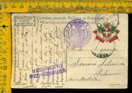 Regno WW1 Prima Guerra Franchigia Posta Militare 45 Per Felonica Mantova - 1900-44 Vittorio Emanuele III