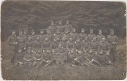 Carte Photo Réelle - Groupe De Militaires -  4e Régiment D'Artillerie - II E Groupe - 58e Batterie - Elsenborn - 1919 - Militaria
