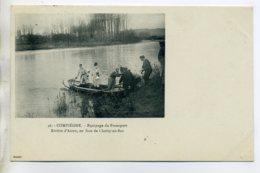 CHASSE à COUR 035 Equipage Du Francport Barque Riviere Aisne En Face Choisy Au Bac 46 Ducelle - Foret  Compiegne - Chasse