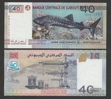 DJIBOUTI  40 FRANCS    2017г UNC!!! - Djibouti