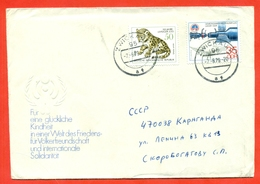 GDR 1979. Irbis. The Envelope Is Really Past Mail. - Big Cats (cats Of Prey)